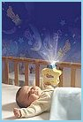 baby animals and figures that dance on the nursery room ceiling and walls while sweet  Lullaby gently soothes your baby to sleep